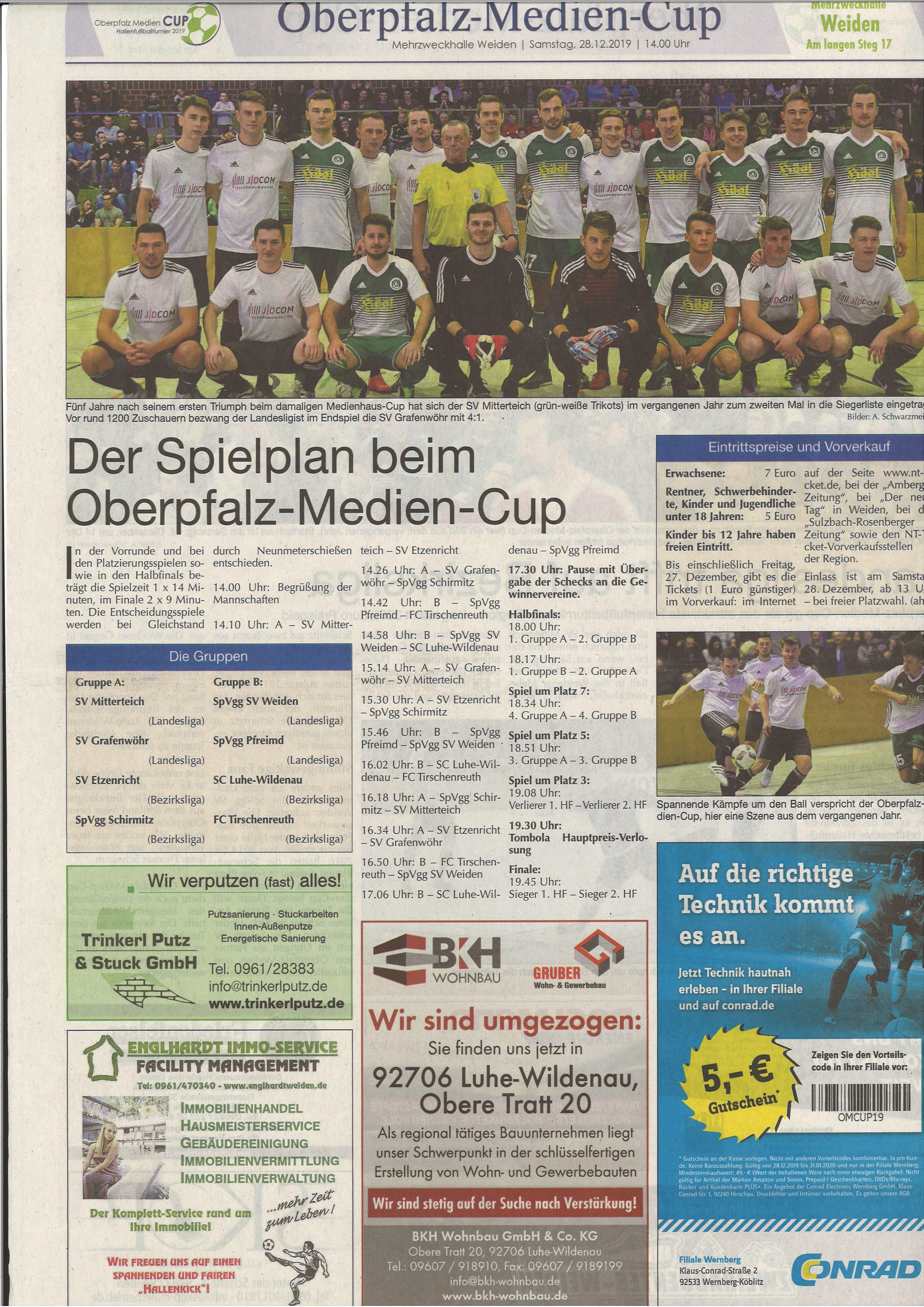 BKH Oberpfläzer Medien Cup 2019
