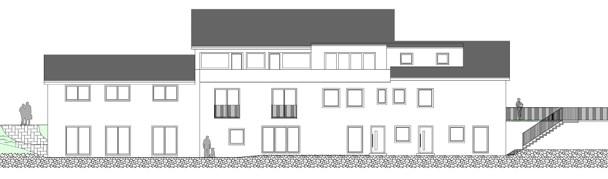 Ansicht Süd Poststeig Altbau 2020-11-24